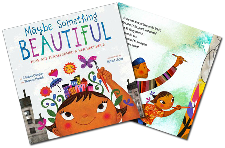 Children's Author, Isabel Campoy's latest book, Maybe Something Beautiful. A message about art, culture and families. My interview for HipLatina.